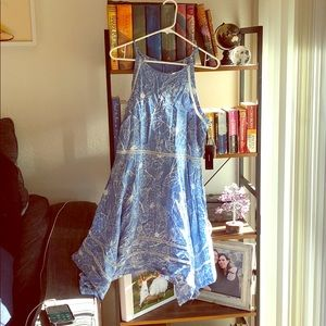Lulu's Blue Handkerchief Dress
